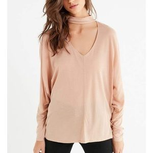 Urban Outfitters Nude Long Sleeve with Choker